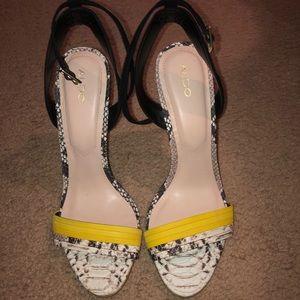 Aldo open toe high heels
